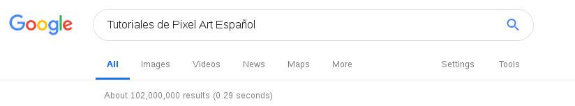 ¿Tenemos más de cien millones de tutoriales hispanos sobre Pixel Art en Google?