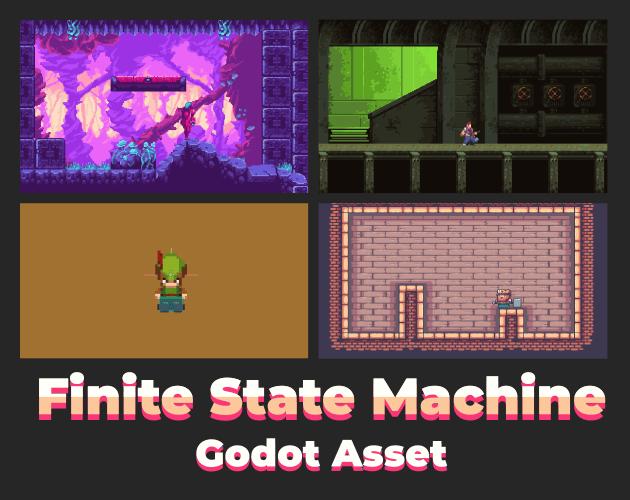 🤖️ Máquina de Estados para juegos de Plataformas – itch.io ❤️